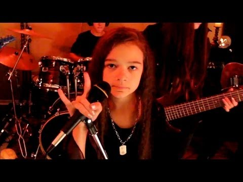 watch HEAVEN AND HELL - Black Sabbath cover by 11 year old Sara & Motion Device