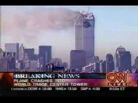 9/11/01 - CNN News Coverage 1st 5 Minutes