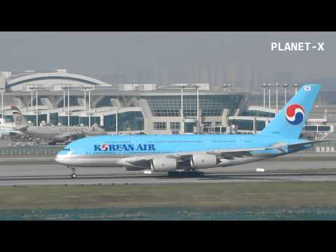 Korean Air A380 Incheon Airport Take Off