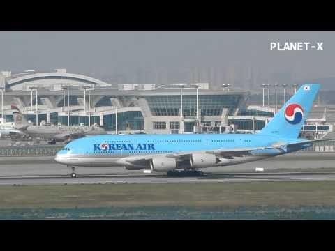Korean Air A380 Incheon Airport Take Off