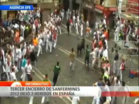 Tercer encierro de San Fermín en España deja al menos siete personas heridas