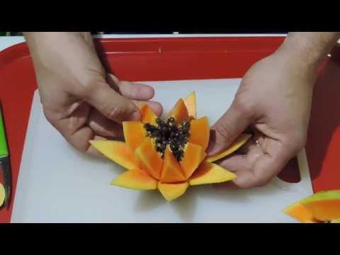 Cách Trình Bày Hoa Đu Đủ