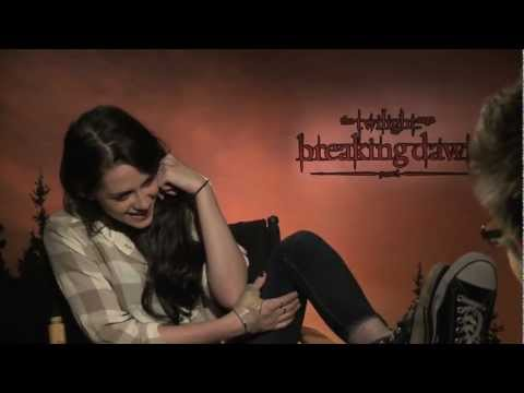 Breaking Dawn interviews with Kristen Stewart, Robert Pattinson, Taylor Lautner, Greene, Rathbone