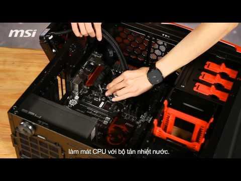 Người đẹp hướng dẫn láp dàn máy PC chơi game. Cách lắp máy chơi game.