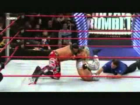 royal rumble 2009, edge vs rey mysterio world heavyweight championship