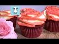 Тающие во рту капкейки «Красный бархат» в день святого Валентина