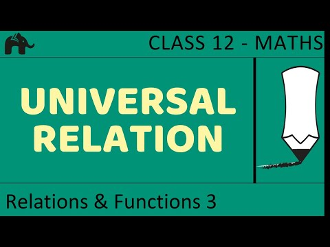 Maths Relations & Functions part 3 (Universal Trival Relation) CBSE class 12 Mathematics