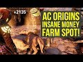 Assassin's Creed Origins Tips BEST MONEY FARM SPOT (AC Origins Money)