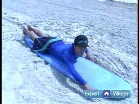 How to Surf : How to Paddle on the Surf Board: Beginning Surfing Lesson