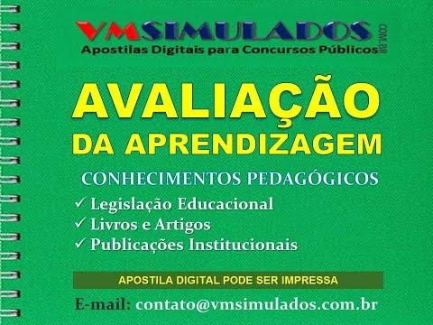 CONHECIMENTOS PEDAGÓGICOS - AVALIAÇÃO DA APRENDIZAGEM - SIMULADO 2012