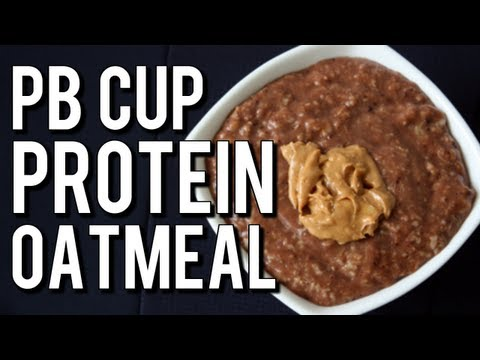 Quick Bodybuilding Peanut Butter Cup Oatmeal (High-Protein Breakfast)
