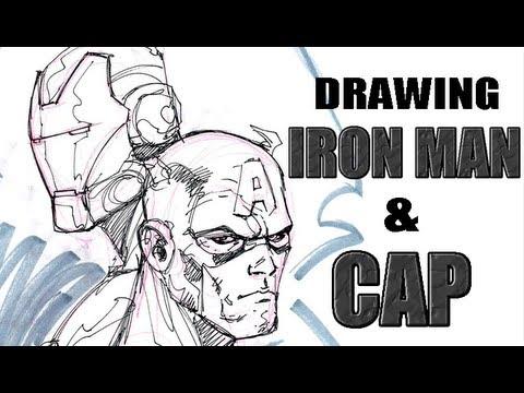 Drawing Iron Man and Captain America (with Ryan Benjamin)