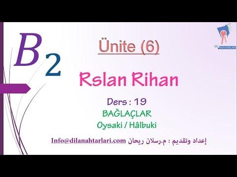 تعلم اللغة التركية (الدرس التاسع عشر من المستوى الرابع B2) (الروابط Oysaki / Hâlbuki )