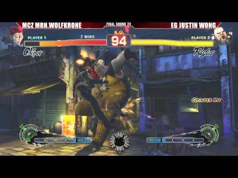 SSF4 AE 2012 Grand Finals MCZ MRN.Wolfkrone vs EG Justin Wong - FR XV - Road to Evo 2012