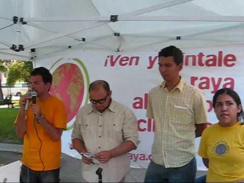 """Lanzan ambientalistas en Monterrey campaña """"Píntale la raya al cambio climático"""" (6/06/09)"""