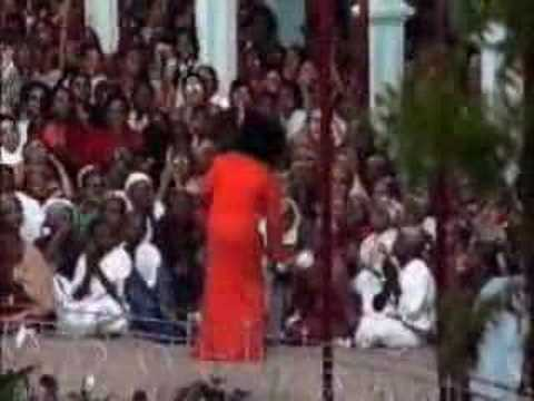 Bhagavan Sri Sathya Sai Baba gives Darshan to His children