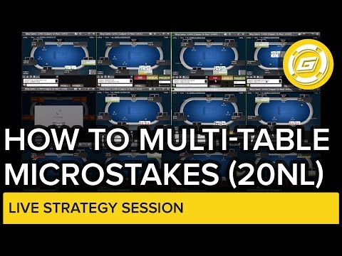 Online Poker - How To Multitable Microstakes 20 NL