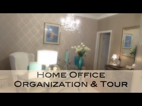 Home Office Organization & Tour
