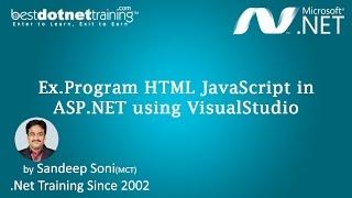 HTML Javascript with ASP.NET using Visual Studio Video 1 - Part 3 [BestDotNetTraining.com]