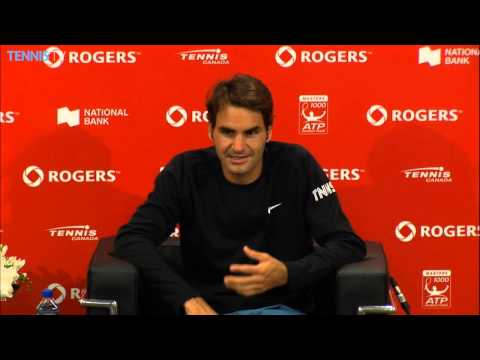 Toronto 2014 Tuesday Interview Federer