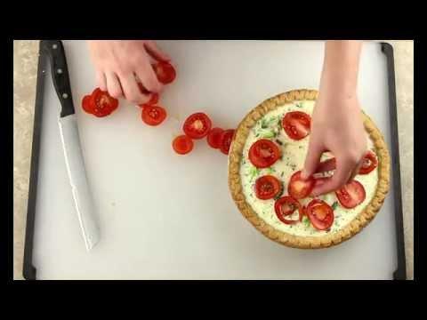 Tomato Broccoli Quiche