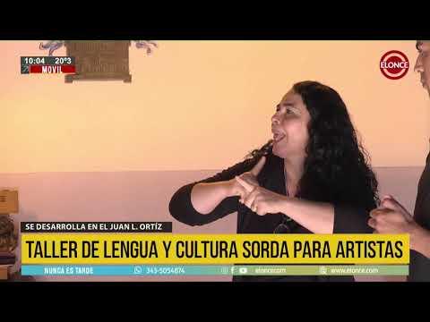 Accesibilidad cultural: artistas realizan un taller en Lengua de Señas