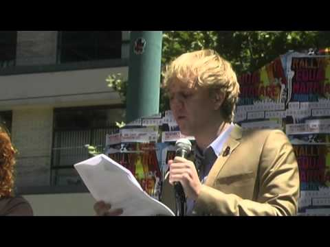 Josh Thomas speaks at Rally For Equal Marriage Rights, Melbourne, Australia