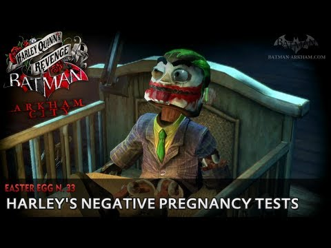 Batman: Arkham City - Easter Egg #33 - Harley's Negative Pregnancy Tests (Harley Quinn's Revenge)
