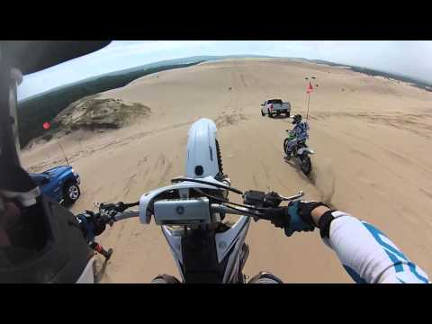 Silver Lake Sand Dunes GoPro Hardcore Dirtbike Jump and Endo