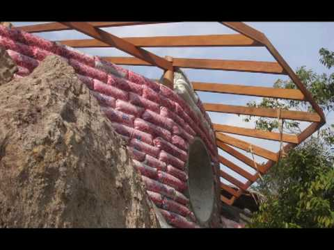 Earthbag Building - Freeform Earthbags Between Boulders #1