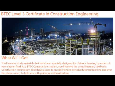 BTEC Level 3 Certificate in Construction Engineering