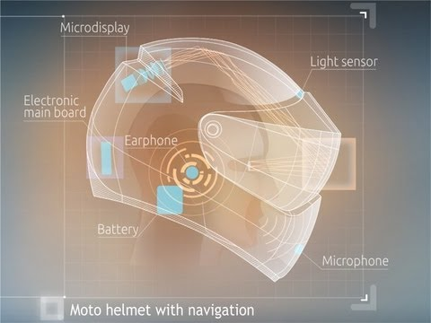 LiveMap: Motorbike helmet with navigation