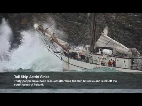 Tall Ship Astrid Sinks Off The South Coast