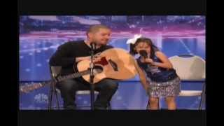 Amazing 7 Year Old Little Girl Sings Duet With Dad