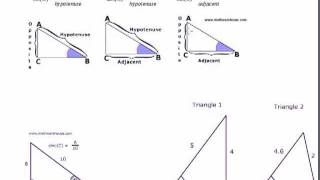 Sincostan to find side length of right triangle youtube ccuart Gallery
