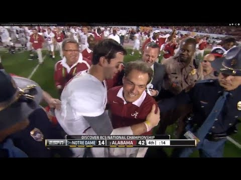 01/07/2013 BCS National Championship: Alabama vs Notre Dame Highlights