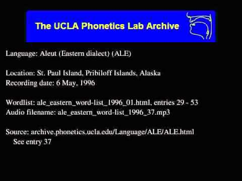Aleut audio: ale_eastern_word-list_1996_37