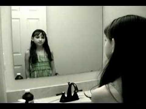 Scary Ghost Girl in Mirror