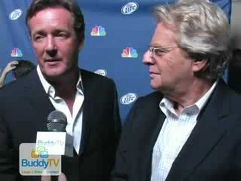 NBC Red Carpet Interview: Jerry Springer and Piers Morgan