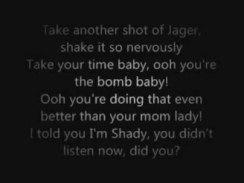 Eminem - So Bad Lyrics On Screen