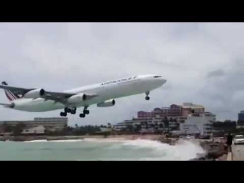Incredibly Late Air France Go-Around St. Maarten during Hurricane Isaac