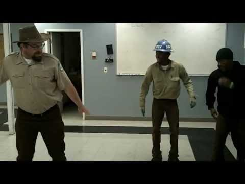 California Conservation Corps members taught their big, country-ish boss to dance!