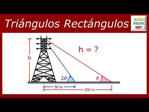 Problema de Trigonometría con Triángulos Rectángulos
