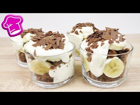 Banana Split Dessert ohne Eis | Super lecker & cremig | Banane & Schoko Cookies | Einfach & Schnell