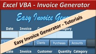 H1b Receipt Number Pdf Vba Excel  Invoice Generator  Microsoft Excel   Youtube Commercial Invoice Packing List Pdf with Sample Sales Receipt Excel  Aynax Free Invoices Pdf