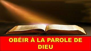 Obéir à la Parole de Dieu