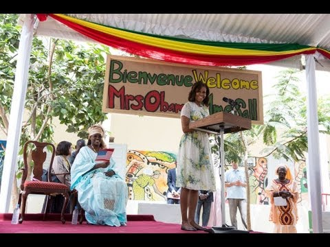 First Lady Michelle Obama Speaks at an Education Event in Dakar, Senegal