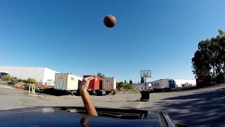 Moonroof Trick Shot - Basketball