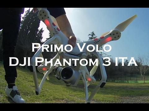 Primo volo DJI Phantom 3 Tutorial Drone ITA per principianti con ripresa telecamera