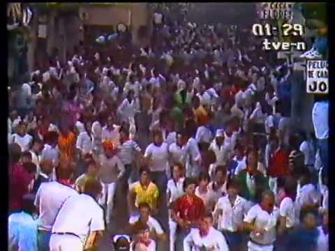 Encierro de San Fermín   7 de julio de 1984 480p